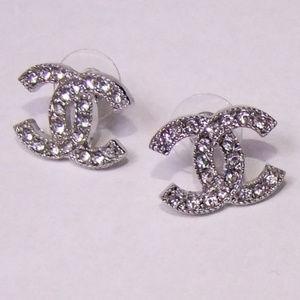 Other - New Silver Fashion Stud Rhinestones Earrings